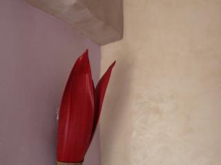 détail escalier chaux et chaux férrée